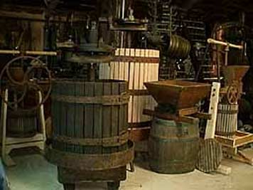 large photo of vintage grape presses