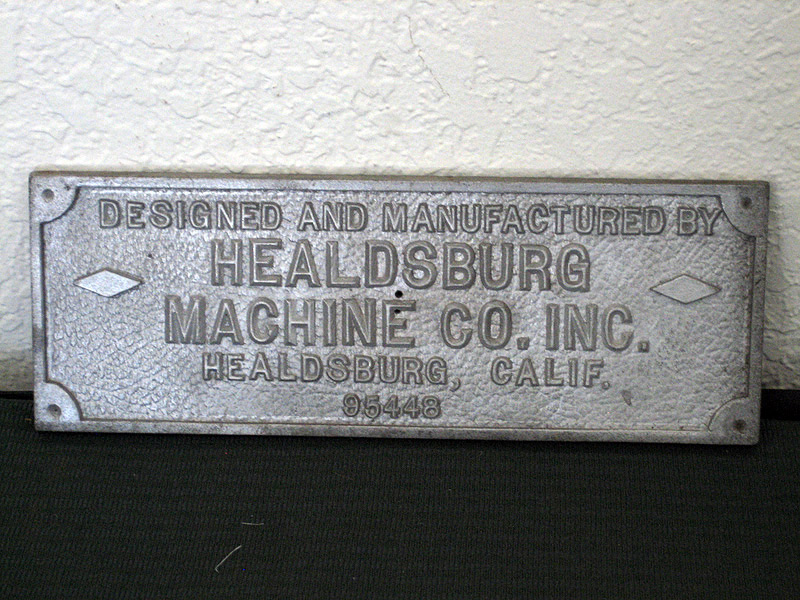 Healdsburg Machine Co. Sign