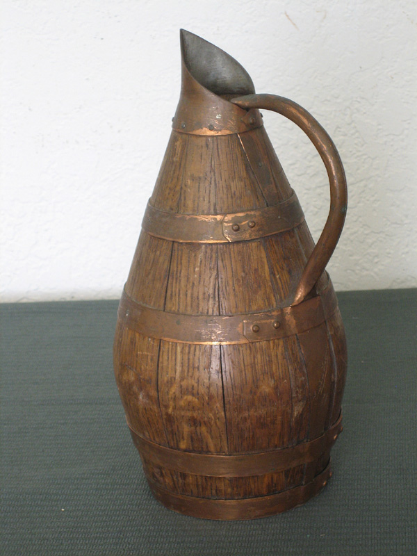 Small wooden wine pitcher